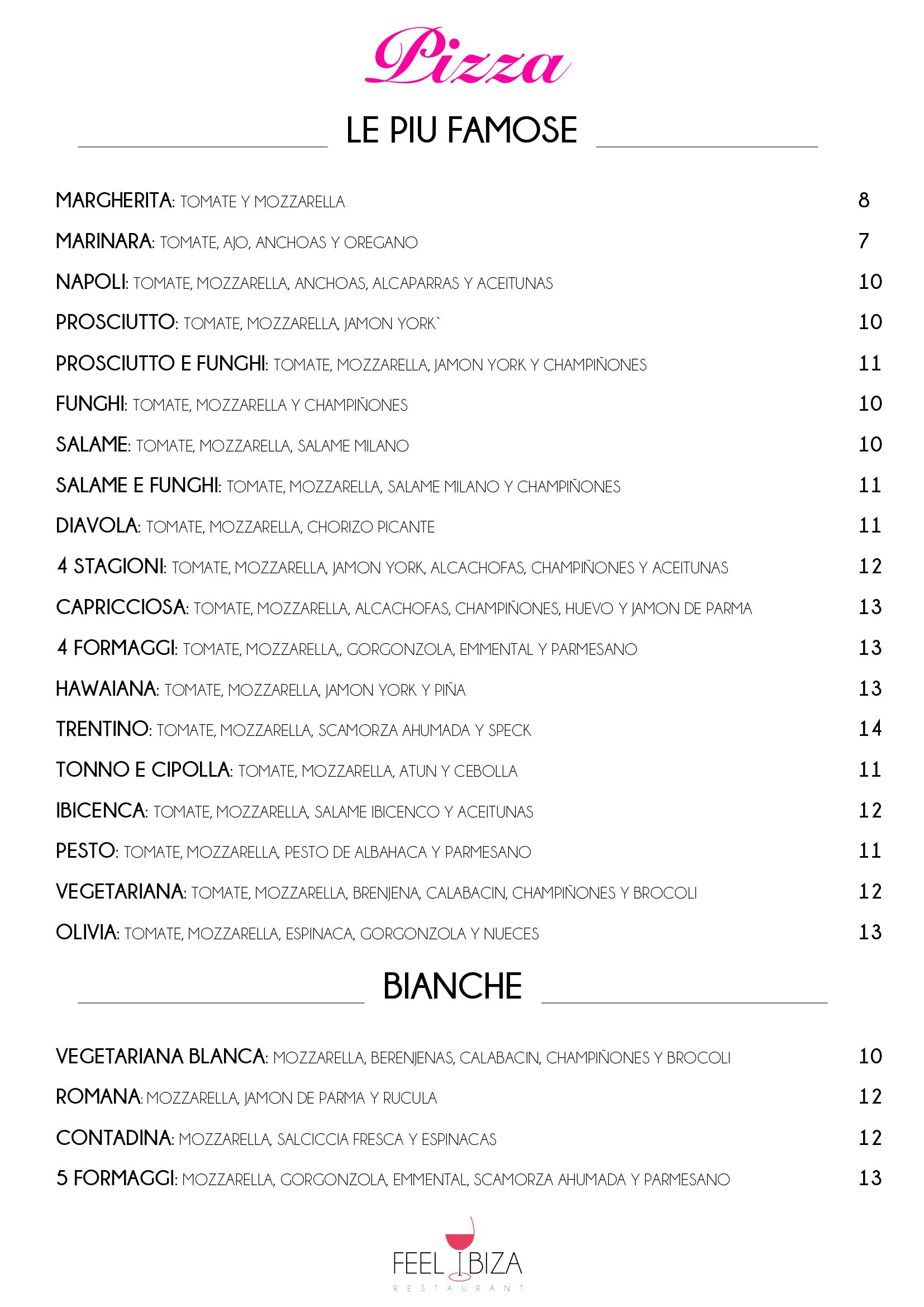 la carta originale feel restaurant ibiza